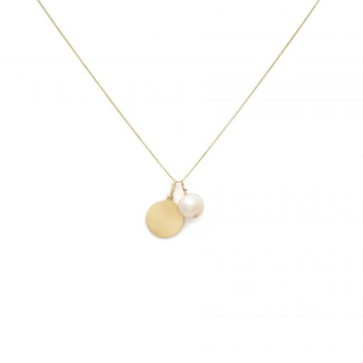 Tag & Pearl Charm Necklace 3